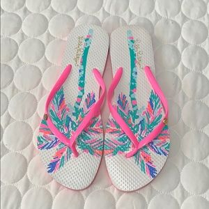 ❤️Just In❤️ Lilly Pulitzer Flip Flops Size 9/10